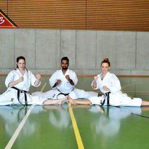 Sensai Shan in Karate fight show in abudhabi uae