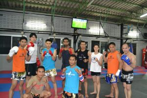 Kickboxing team photo of emirates karate center Abu Dhabi