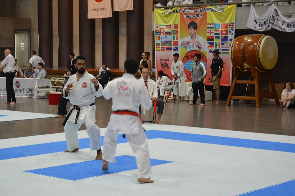 Sensi shan attending karate world championship in Japan