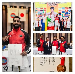 emirates karate chief instructor won bronz medal at world Shotokan karate do federation 14th World Championships 2019