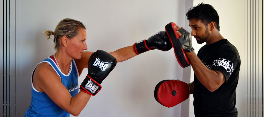 boxing class at emirates sports centre