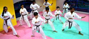 Karate class at Emirates Karate Club at salam street, Abu dhabi